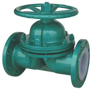 PTFE Lining Stainless Steel Flange Diaphragm Valve