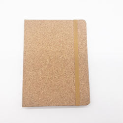 Custom A5 Leather Cork Cover Journal Notebook with Elastic Band