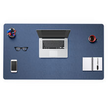 custom logo pvc leather full computer desk mouse pad mat