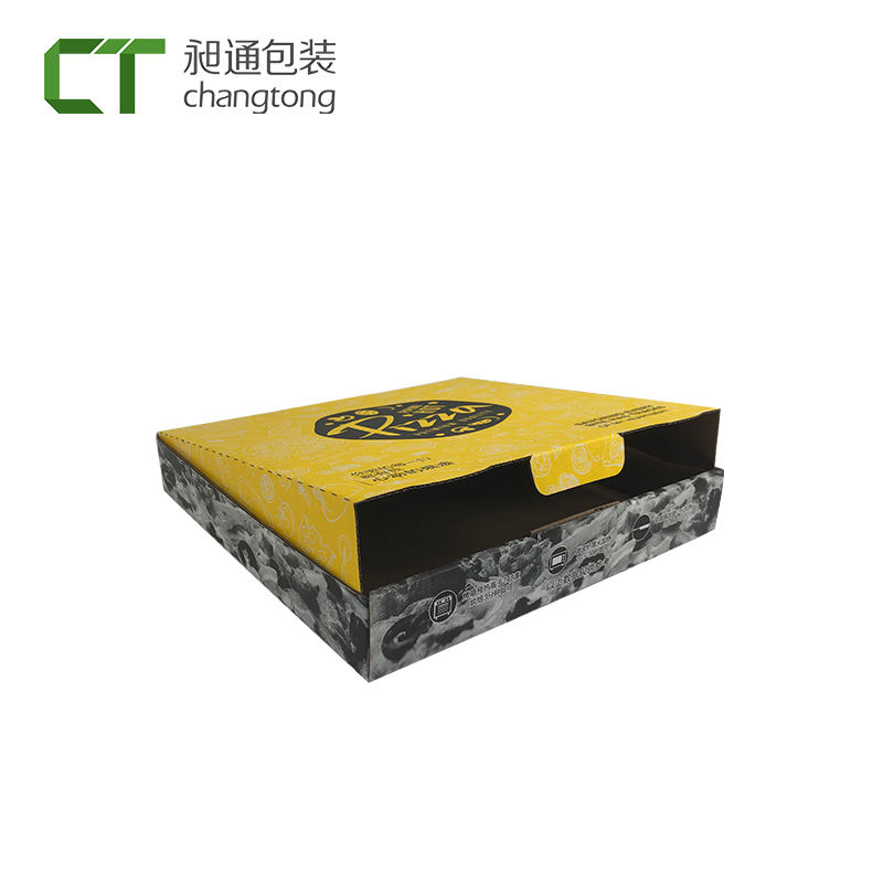China levering gepersonaliseerde gegolfd slice label sticker <span class=keywords><strong>pizza</strong></span> <span class=keywords><strong>box</strong></span>