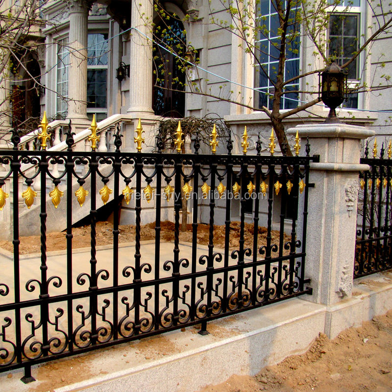 used wrought iron fencing garden steel fence