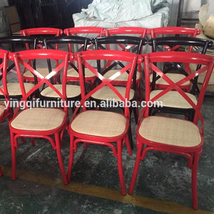 Metal Vintage Cross Back Dining Chairs For Wedding Rental
