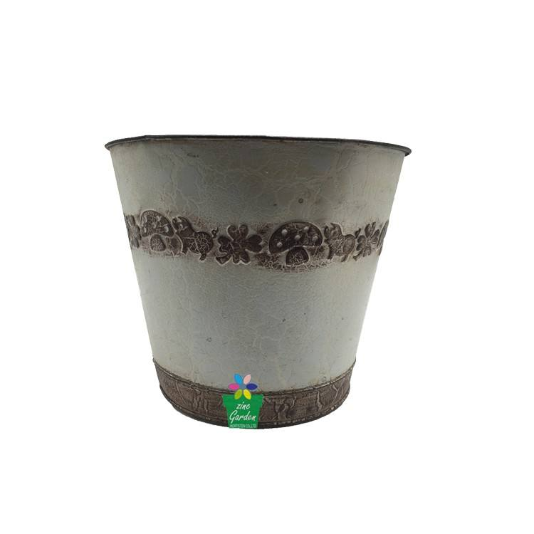 Guangxi factory make an inventory of warehouses price Crack Lacquer iron garden line planter flower pot