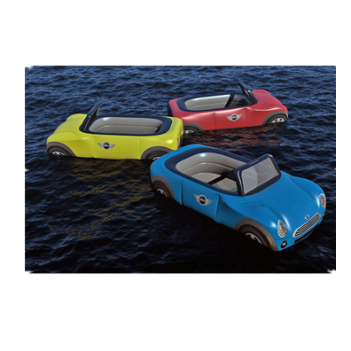 Inflatable water floating car