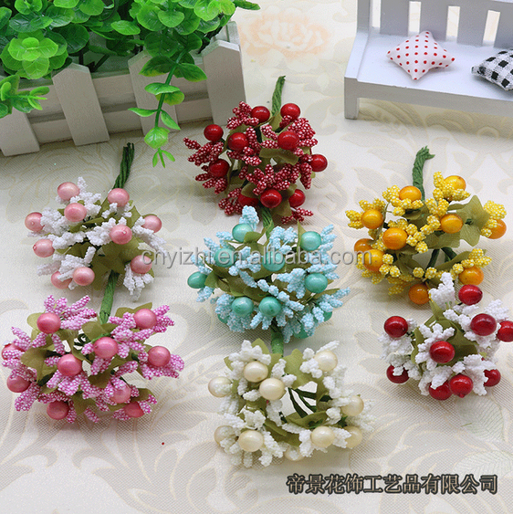 supplier China hot sale factory direct sale artificial Berry bouquet cherry fruit Christmas fruit decorate for Christmas home