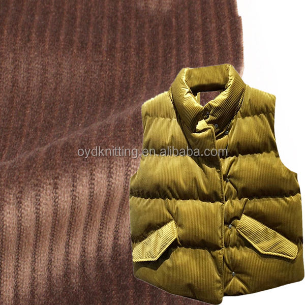 100% Polyester Warp Knitting Soft Wide Wale 3D Corduroy Coat/Jacket Velvet Fabric