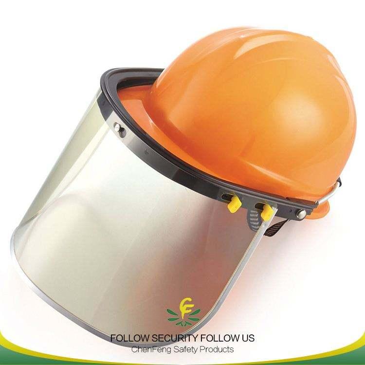 Head đeo hàn lá chắn an toàn khuôn mặt shield với PVC màn hình cho mũ bảo hiểm