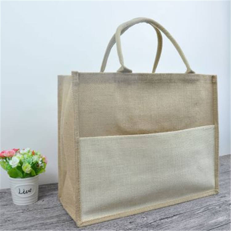 황 마 Tote Bag Custom picture 의 황 마 삼 베 Gift Bag reusable 삼 베 쇼핑 bags