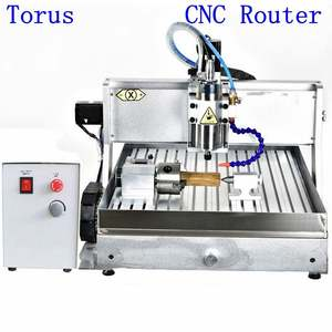 Water cooling 3d mini cnc router with Import 1605 Ball screw