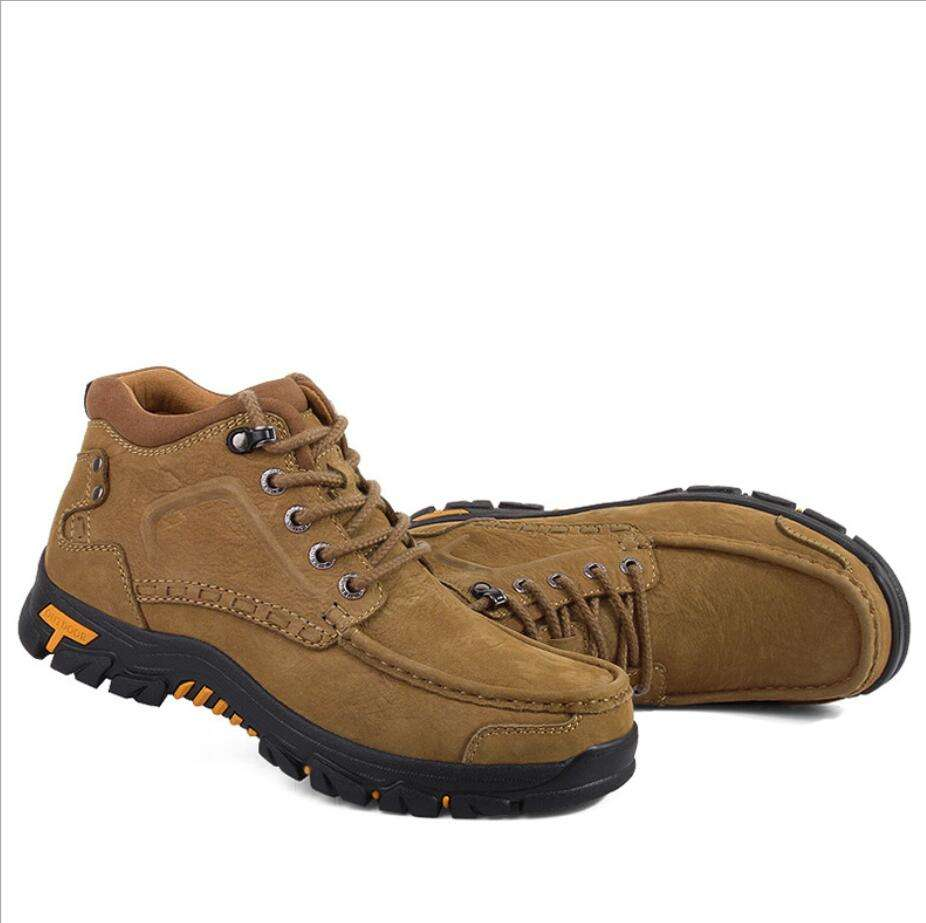 2019 hot Outdoor shoes men genuine leather suede trekking shoes hiking shoes GS-D0010