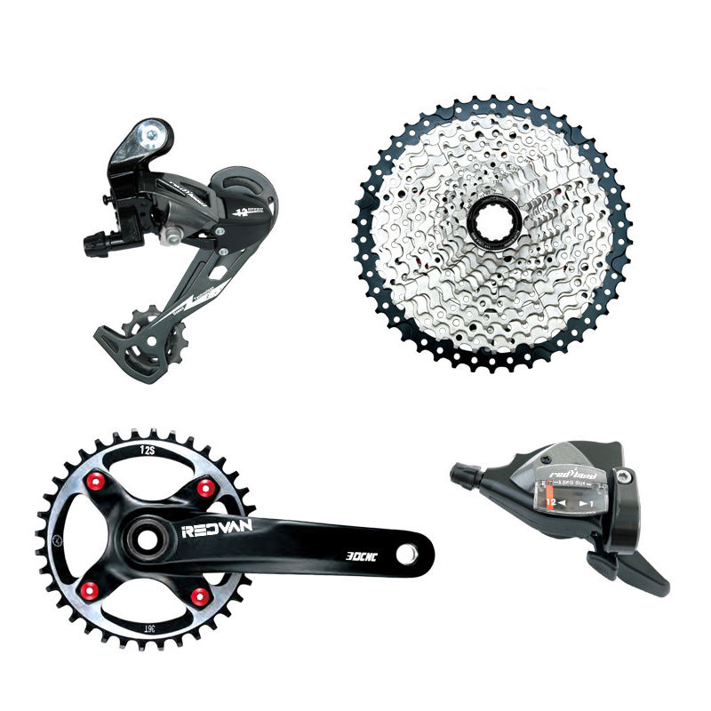 Redland bicycle parts mountain bike 12 speed derailleur groupset bike rear derailleur bicycle shifting lever