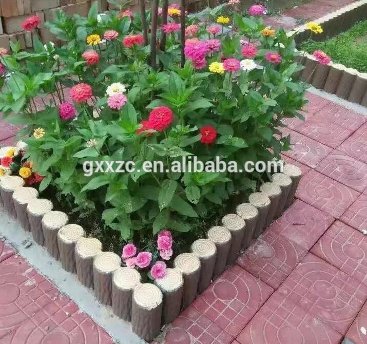 Best verkopende abs plastic hout boomstronk tuin hek moulds