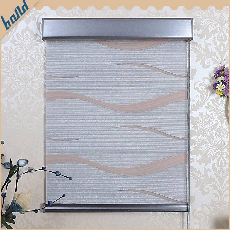 100% <span class=keywords><strong>polyester</strong></span> zèbre fenêtre rideau, zebra pure ombre aveugle