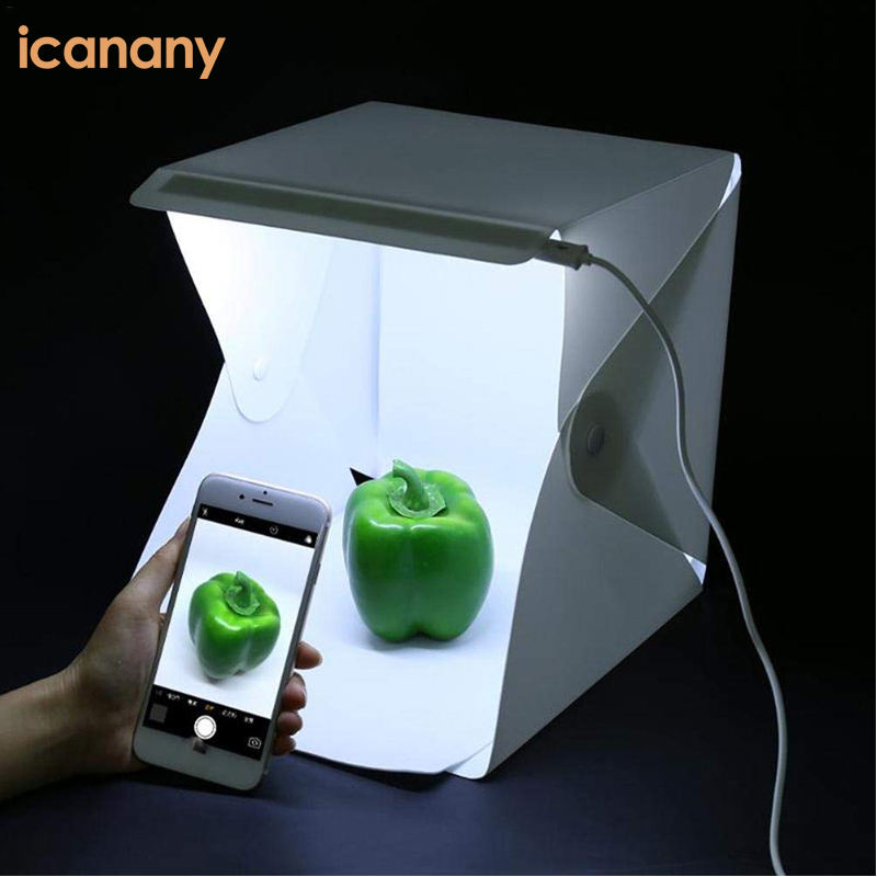 Portable foldable LED mini photo studio light box Photography Studio for mobile or camera with 20/30/40cm