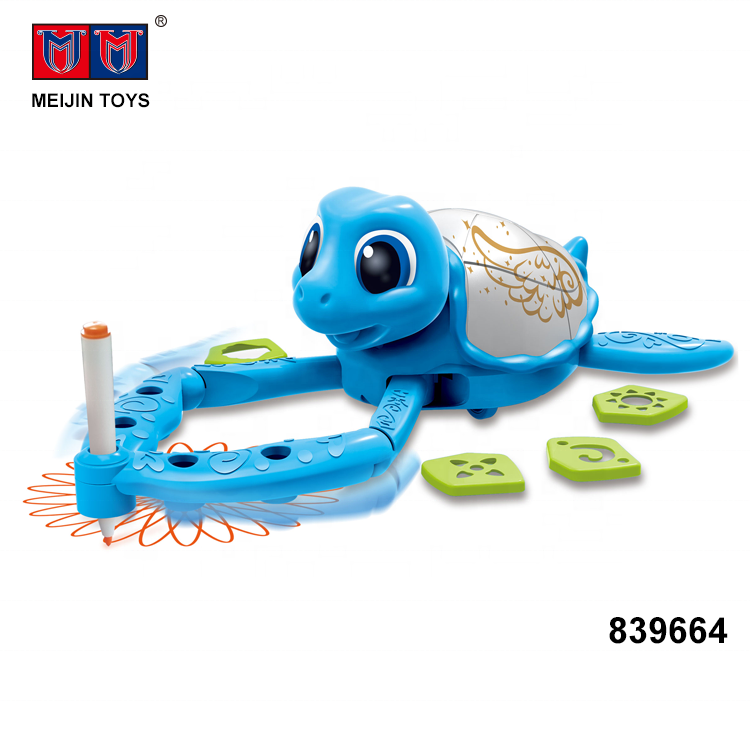 education intelligent turtle kids drawing toy painting for wholesale