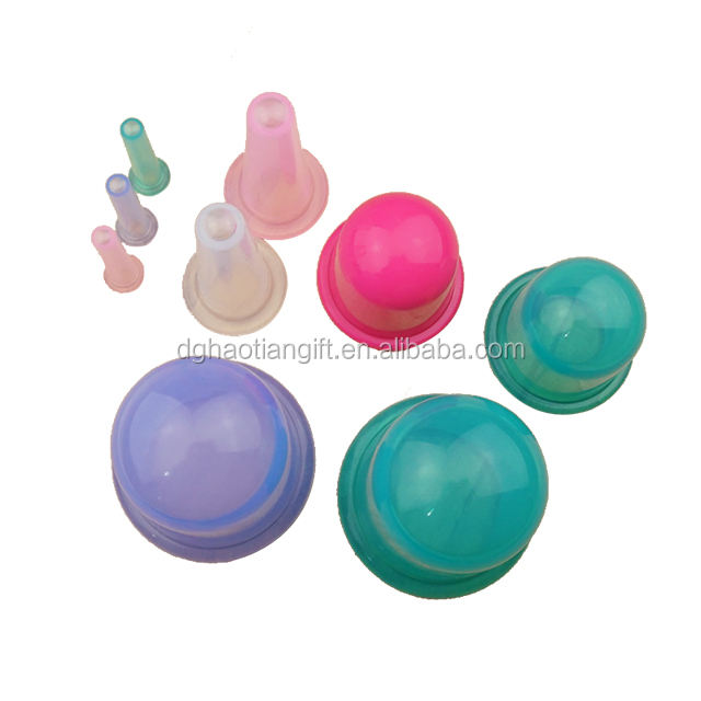 Home Use Medical Cupping Therapy Anti Cellulite Silicone Vacuum Massage Suction Cups