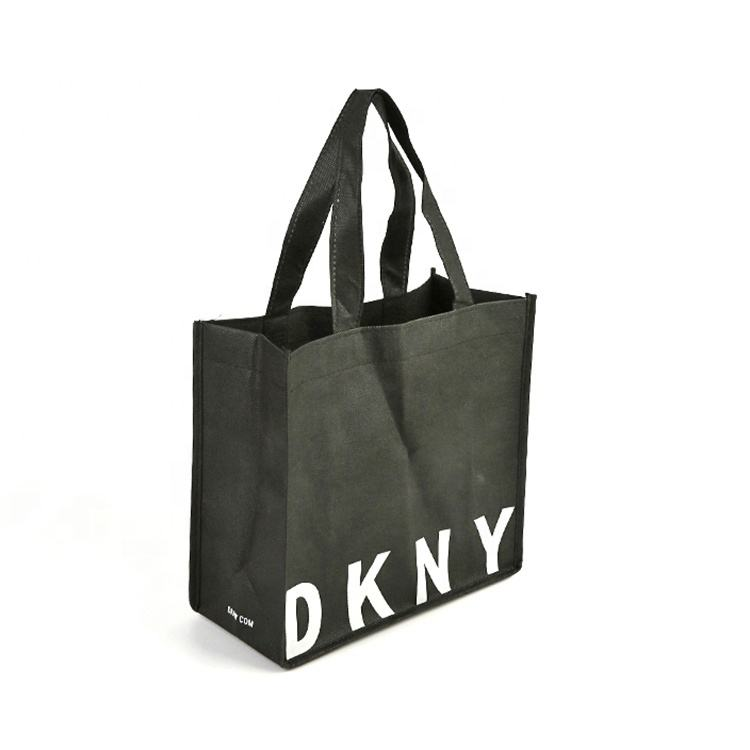 Promotional Custom Eco friendly logo printed promotion reusable non woven shopping tote bag with handle