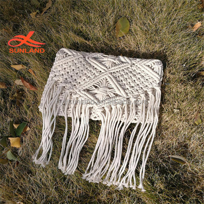 W1456 cotton rope Boho macrame bag church wall decorations
