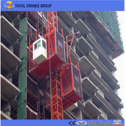 Double Cages Concrete Lifting Equipment/Construction Material Hoist