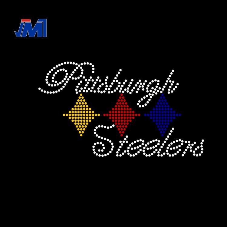 "Iron On Rhinestone Transfer /""Steelers Girl/"" Hotfix"