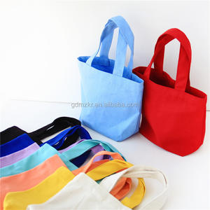 Wholesales Mini Cotton Canvas Tote Bag with Square Bottom