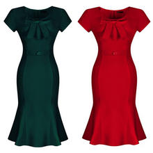 B10605A PLUS SIZE rockabilly 50s Vintage Slim ROCKABILLY DRESS MADE IN BEST MATERIAL
