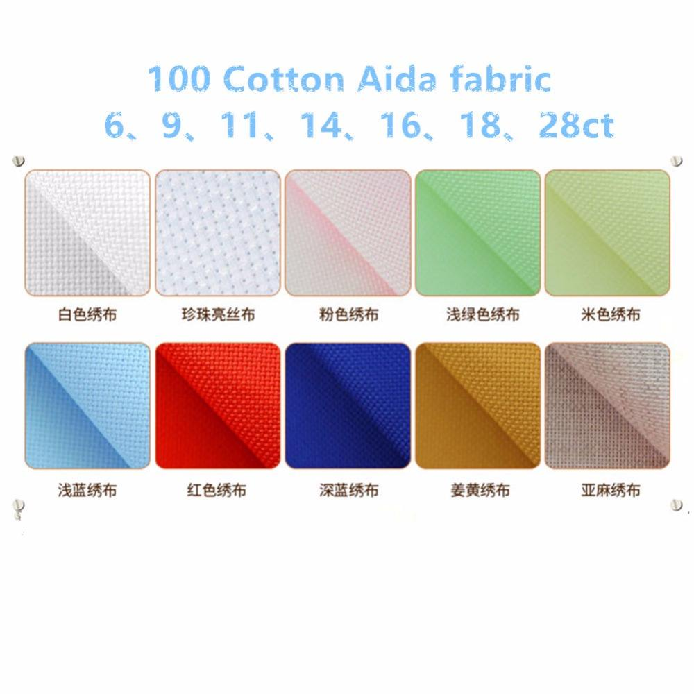 OEM 100% Cotton Cross Stitch Thêu Aida Vải Vải 6-9-11-14-16-18-28ct