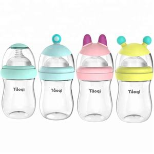180 Ml Grosir Plastik BPA Free Baby Bottle Wide Neck PP Botol Makan Bayi