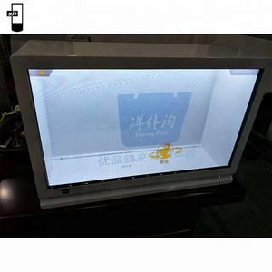 22 32 43 inch aangepaste android 3D infrarood touchscreen transparante screen voor retail diensten