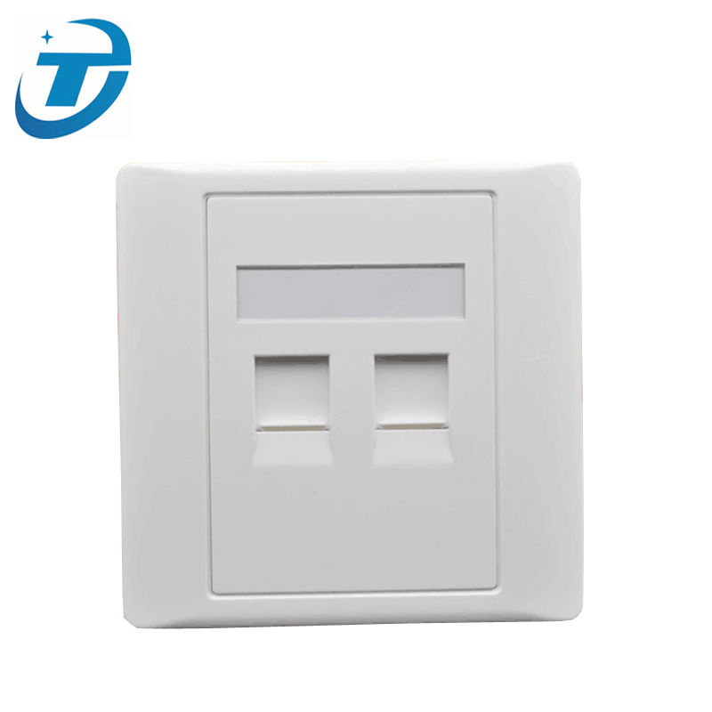 2 Port UTP Cat5e RJ45 RJ11 Surface Mounting Junction Box