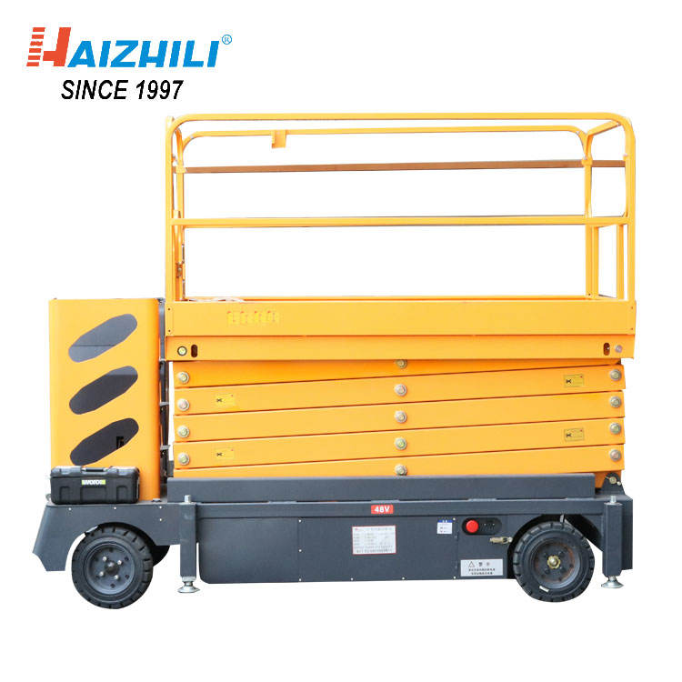 HaizhiLi Handling Equipment Mobile electric mini platform hydraulic scissor vertical lift platform