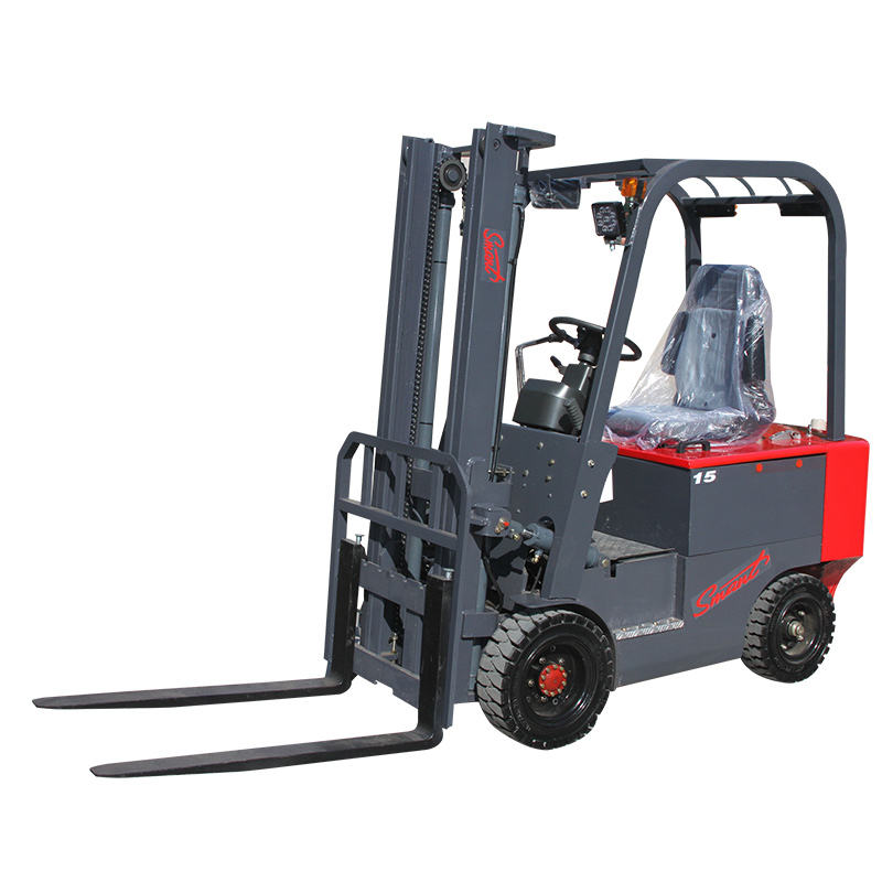 Electric double pallet 1.5 ton forklift with battery used forklift truck