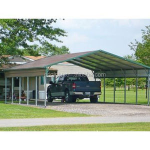 Hot sale used metal regular roof car parking lot outdoor backyard shade shed car garage carports