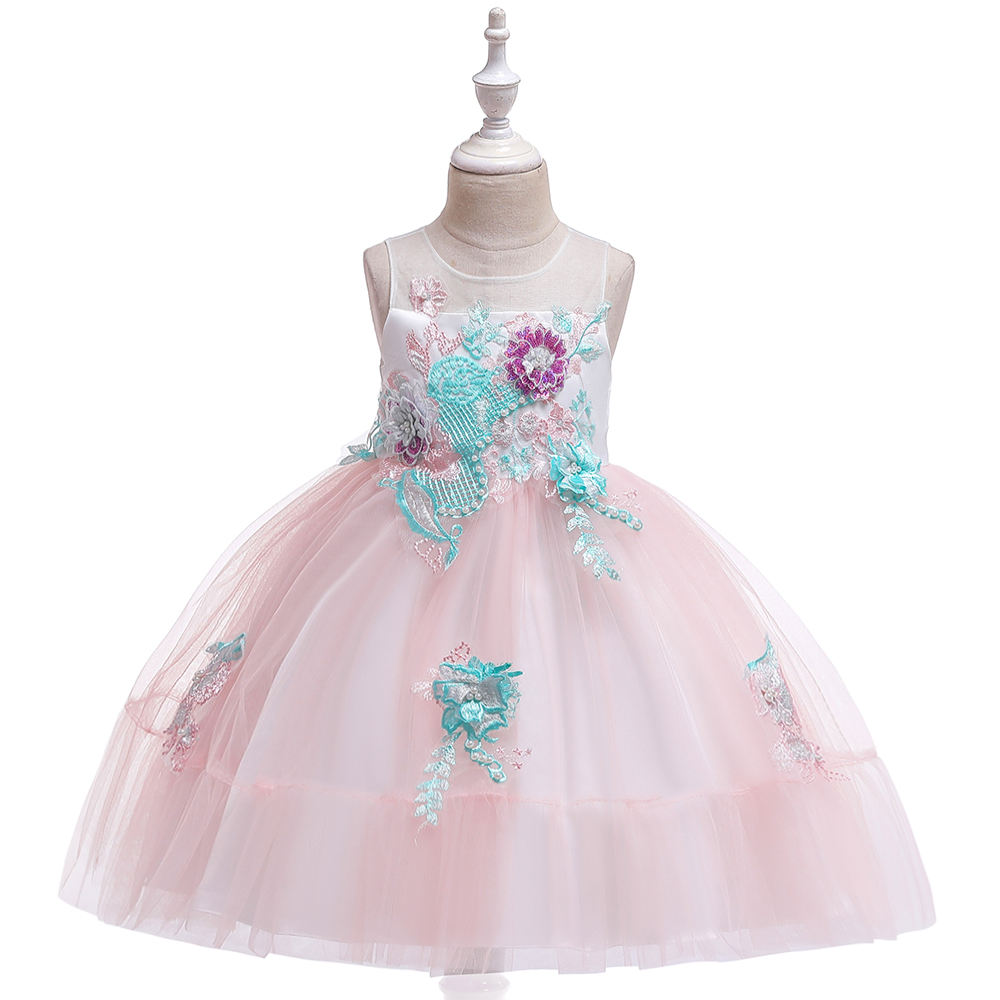 2019 Latest Design Girl Party Dress Hot Sale Princess Summer Baby Boutique Wedding Frock Cotton WholesaleL5139