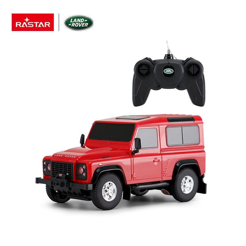 Rastar 1:24 Land Rover Defender Radio Control Car Model rc model car 2.4Ghz scale branding electric truck racing hobby for kids