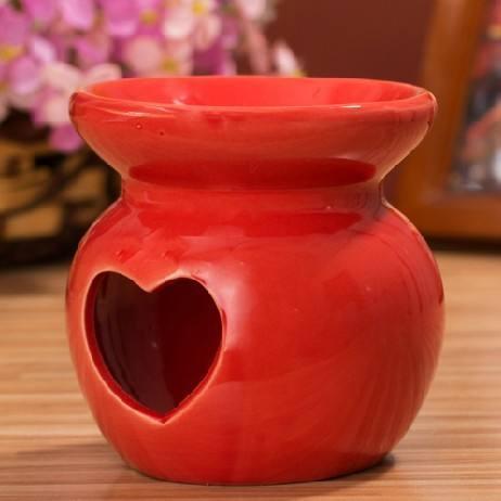 Venta caliente rojo corazón recorte <span class=keywords><strong>calentador</strong></span> de cerámica del <span class=keywords><strong>quemador</strong></span> de aceite ts-ob181