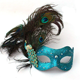Masquerade Party Fashion Show Customized Feather Mask