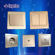 Popular EU Standard ABS Material Wall Switch and Socket TV Socket Telephone Socket