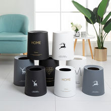 8l animal design household office round commercial trash can