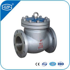 API 594 Standard Stainless Steel ASTM A216 Gr WCB 6INCH Pressure 150LB 300LB 600LB Swing Check Valve for 18 Months Used