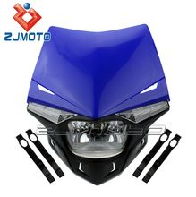 H4 12V 35 35W Universal LED Dirt Bike 250cc Head Lamp Headlight For Motorcycle