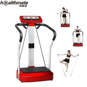 Slanke Full Body Trillingen Platform Fitness Machine Crazy Fit Home Gym, rood