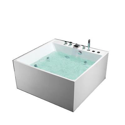 Chaude carré clair acrylique de massage 1.5 m baignoire avec <span class=keywords><strong>jets</strong></span> pour salle de bains