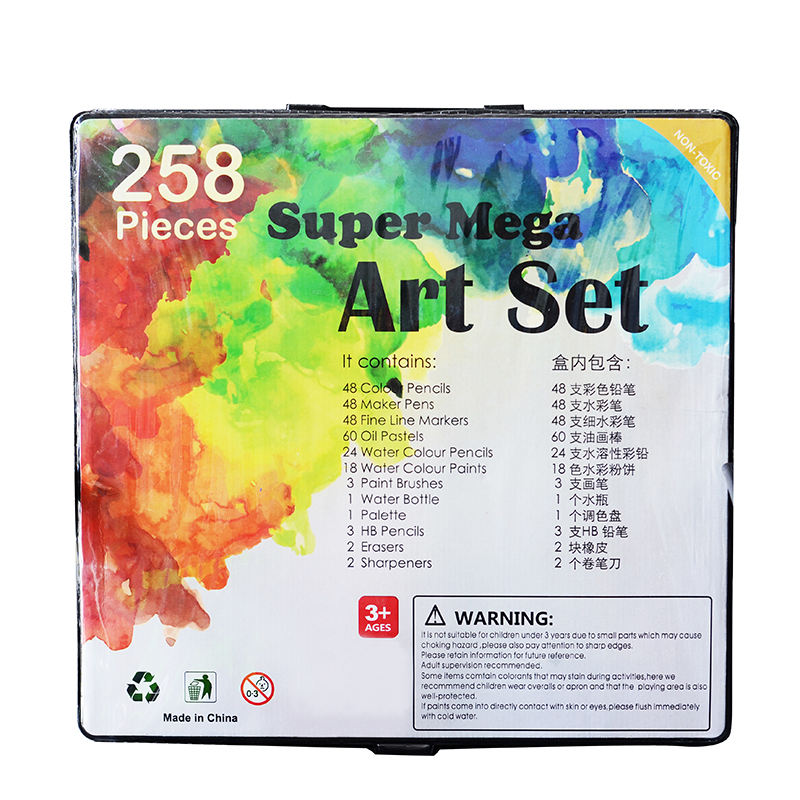 258 Stück Professional Mega Drawing Sketch ing Art Set