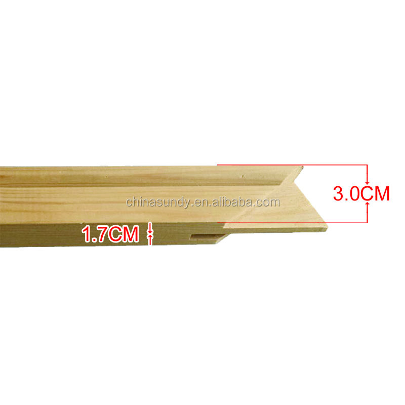 1.7*3.0cm Wholesale low price pine wood inner frame stretcher bar for stretched canvas