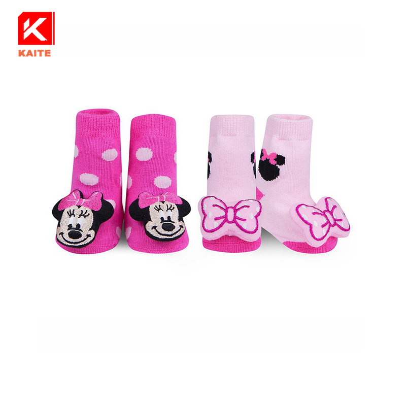 KT3-A609 infant baby 3d toy animal head socks toys for baby socks animals