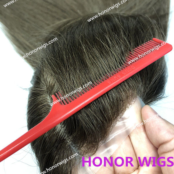 F2001 super thin skin full lace wig personal cap size silk base 4