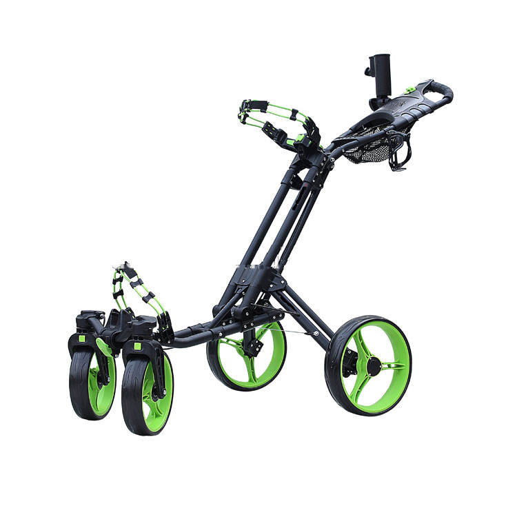 One-click Folding 4 Wheel Golf Push buggy With Swivel Front Wheel