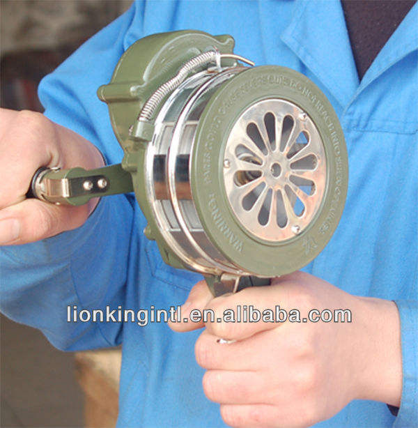 Hand Operated siren ,Hand crank warning siren LK-100,LION KING signal siren