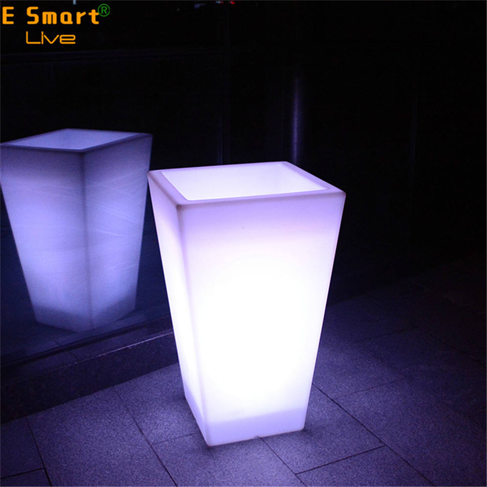 Wholesale Led Lighted Planter Pots/Led Flower Pot/Led Ligfhted Up Vase